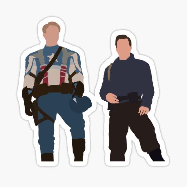 Bucky and Steve Sticker Sticker