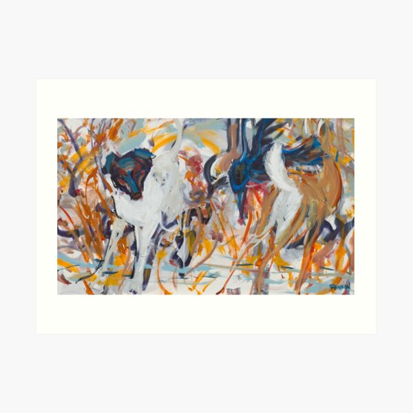 Kate and Deer Art Print
