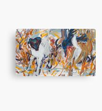 Kate and Deer Canvas Print