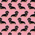 Dachshund pet portrait dog breed gift for weener dog owner by PetFriendly