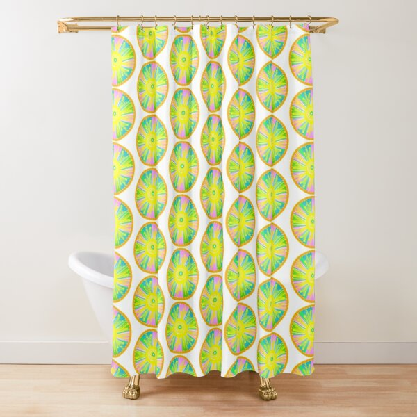 Let there Be Light - Round Shower Curtain