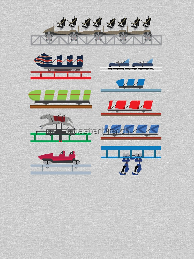 Blackpool Theme Park Coaster Cars Design by CoasterMerch