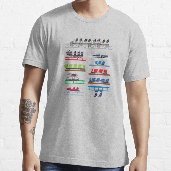 Blackpool Theme Park Coaster Cars Design Essential T-Shirt