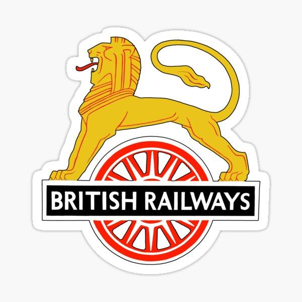 BRITISH RAILWAYS, BR, SIGN, First logo, British Railways, Cycling Lion. Sticker
