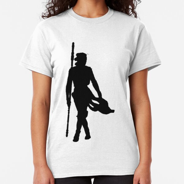Rey with Staff Silhouette Classic T-Shirt