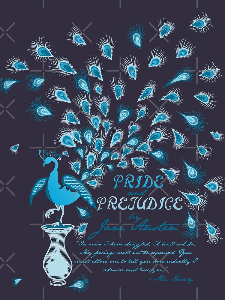 Paisley Peacock Pride and Prejudice: Classic by DoodleHeadDee