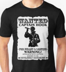 Captain Hook. Wanted. OUAT. T-Shirt