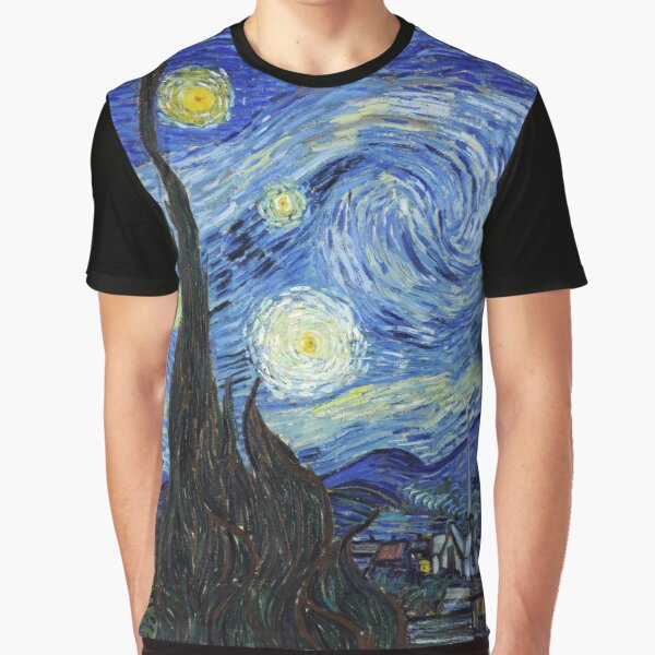 Vincent van Gogh - Starry Night Graphic T-Shirt