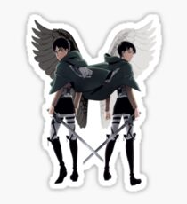 Levi Eren Wings  Sticker