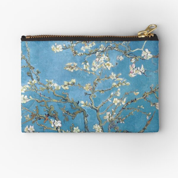 Vincent van Gogh - Branches with Almond Blossom Zipper Pouch