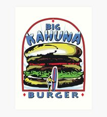 Big Kahuna Burger t-shirt (Pulp Fiction, Tarantino, Bad Motherf**ker) Art Print