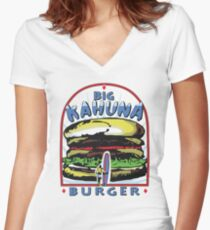 Big Kahuna Burger t-shirt (Pulp Fiction, Tarantino, Bad Motherf**ker) Women's Fitted V-Neck T-Shirt