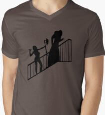 Buffy VS Count Orlok! Mens V-Neck T-Shirt