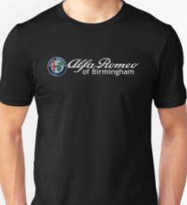 Alfa Romeo of Birmingham script Unisex T-Shirt