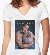 You Are My Rock Women's Fitted V-Neck T-Shirt