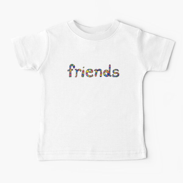 "word ""friends"" in colorful circles Baby T-Shirt"