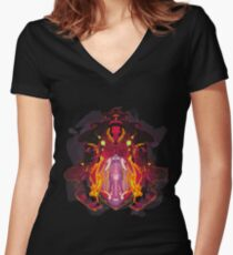 Hellmouth Women's Fitted V-Neck T-Shirt