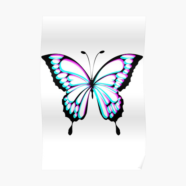Butterfly Glitch effect  Poster