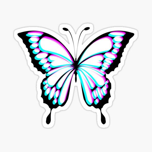 Butterfly Glitch effect  Sticker
