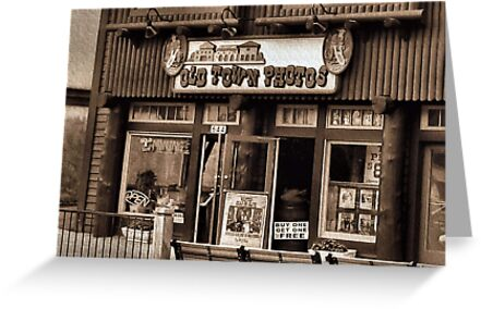 """Gatlinburg, Tennessee Series, #5... 'The Old Timey Photo Shop, 3rd Picture'""... prints and products   by Bob Hall©"