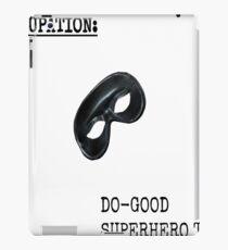 Occupation: Do Good SuperHero Type iPad Case/Skin