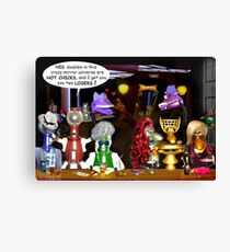 Bad Luck at the Quantum Madness Bar & Grill Canvas Print