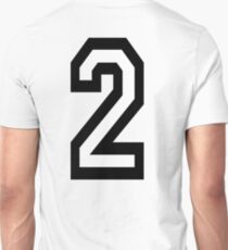 2, TEAM, SPORTS, NUMBER 2, TWO, SECOND, Twice, Duo, Couple, Competition T-Shirt