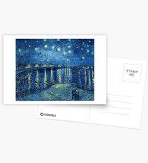 Vincent van Gogh - Sternennacht über der Rhône Postkarten