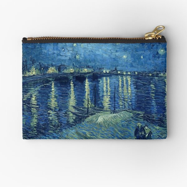 Vincent van Gogh - Starry Night over the Rhone Zipper Pouch