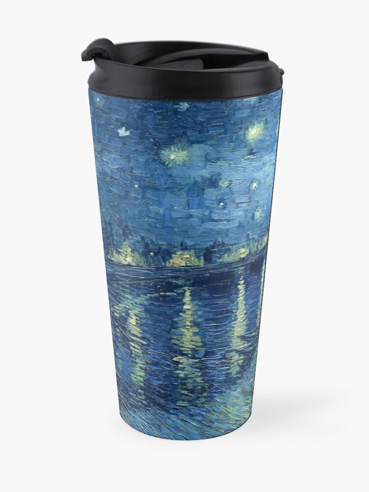 Alternative Ansicht von Vincent van Gogh - Sternennacht über der Rhône Thermobecher