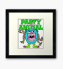 Party Animal Monster Cartoon Framed Print