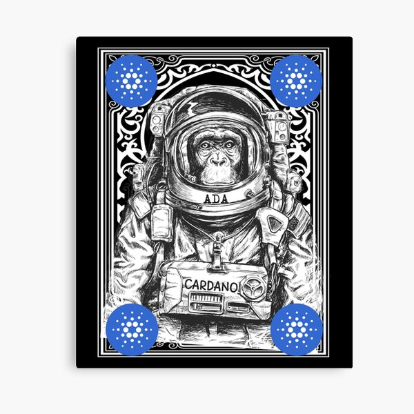 Cardano ADA Cryptocurrency Space Monkey Art Canvas Print