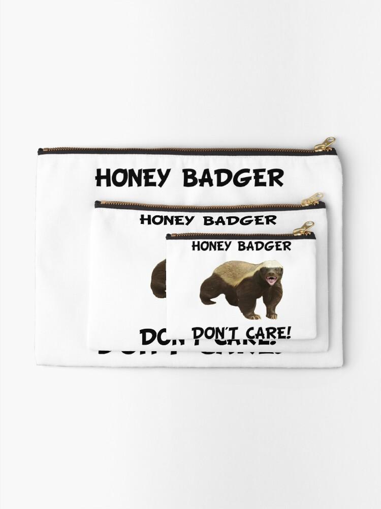 Alternate view of Honey Badger Don't Care Zipper Pouch