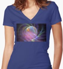 Ocean Pearl Women's Fitted V-Neck T-Shirt
