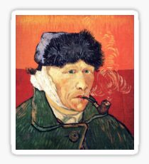 Vincent van Gogh - Self Portrait with Bandaged Ear and Pipe Sticker