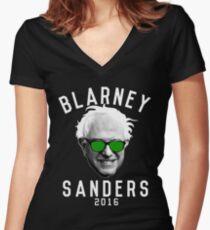 Blarney Sanders Women's Fitted V-Neck T-Shirt