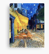 Vincent van Gogh - The Cafe Terrace on the Place de Forum in Arles at Nigh Canvas Print