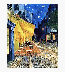 Vincent van Gogh - The Cafe Terrace on the Place de Forum in Arles at Nigh Photographic Print