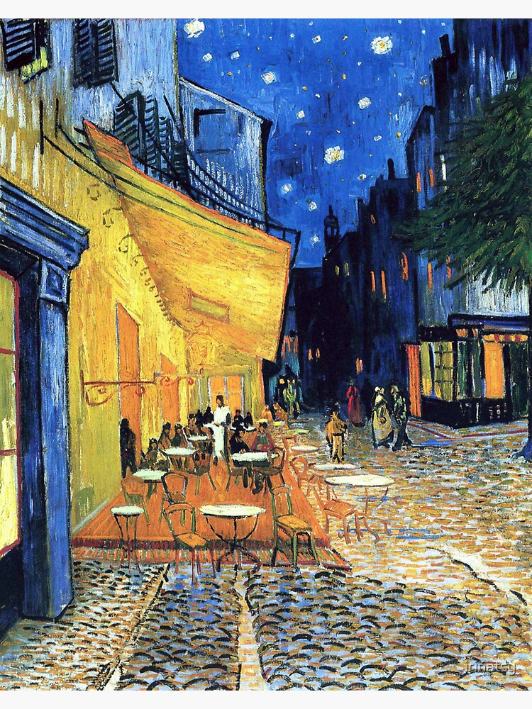 Vincent van Gogh - The Cafe Terrace on the Place de Forum in Arles at Nigh by irinatsy