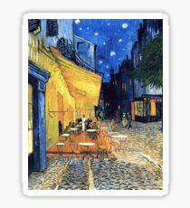 Pegatina Vincent van Gogh - The Cafe Terrace en la Place de Forum en Arles at Nigh