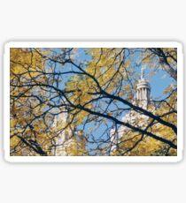 Autumn View, Classic Architecture, Central Park West, New York City   Sticker