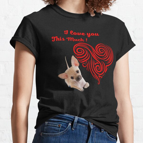 I love you this much with red spiral heart Classic T-Shirt