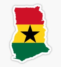 Flag Map of Ghana  Sticker
