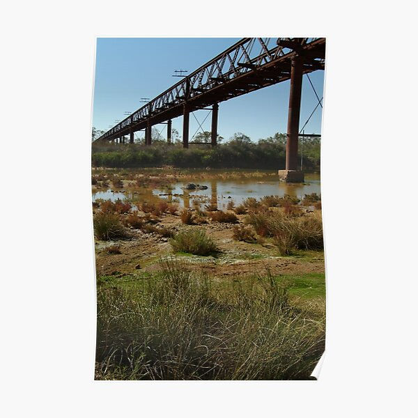 Joe Mortelliti Gallery - Ruins of a railway bridge, Old Ghan Railway, South Australia. Poster