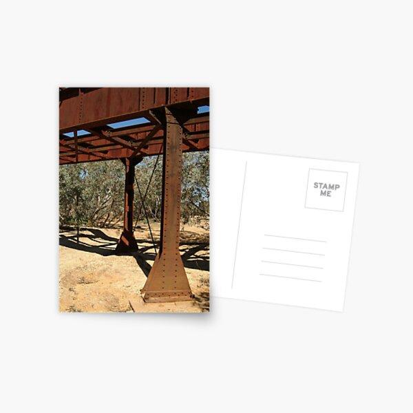 Joe Mortelliti Gallery - Ruins of a railway bridge, Old Ghan Railway, North Creek, South Australia. Postcard