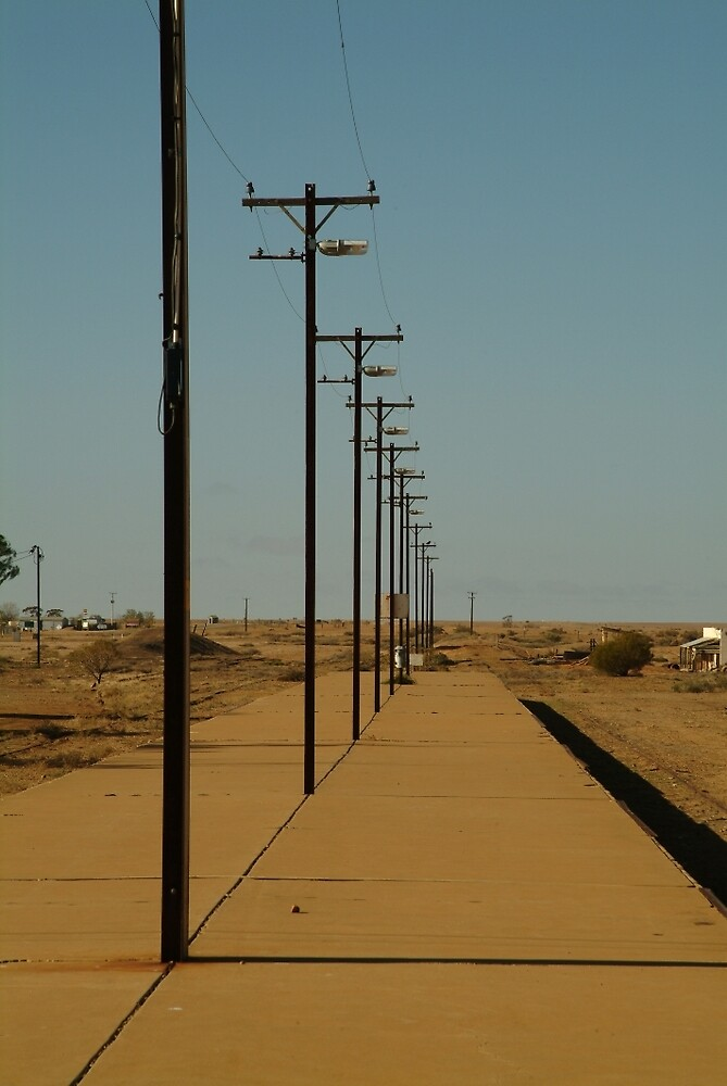 Joe Mortelliti Gallery - Railway platform at Marree, Old Ghan Railway, South Australia. by thisisaustralia