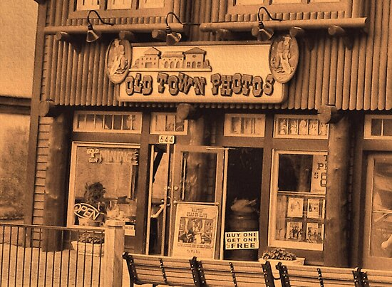 """Gatlinburg, Tennessee Series, #5... 'The Old Timey Photo Shop, 1st Picture""'... prints and products by Bob Hall©"
