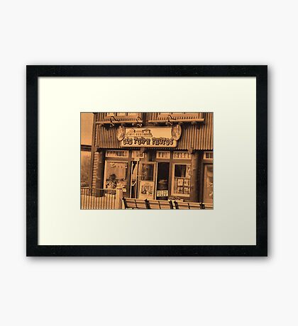 """""""Gatlinburg, Tennessee Series, #5... 'The Old Timey Photo Shop, 1st Picture""""'... prints and products Framed Print"""