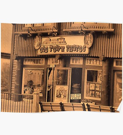 """""""Gatlinburg, Tennessee Series, #5... 'The Old Timey Photo Shop, 1st Picture""""'... prints and products Poster"""