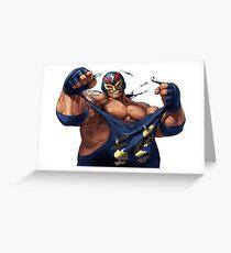 Raiden Big Bear SNK Greeting Card